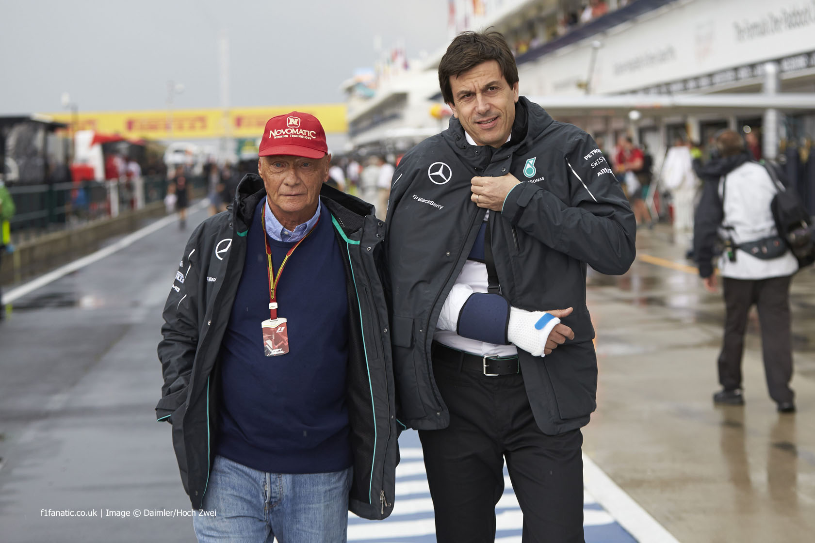 Niki Lauda, Toto Wolff, Hungaroring, 2014