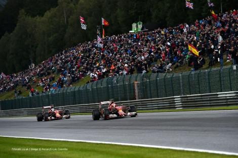 Kimi Raikkonen, Fernando Alonso, Ferrari, Spa-Francorchamps, 2014