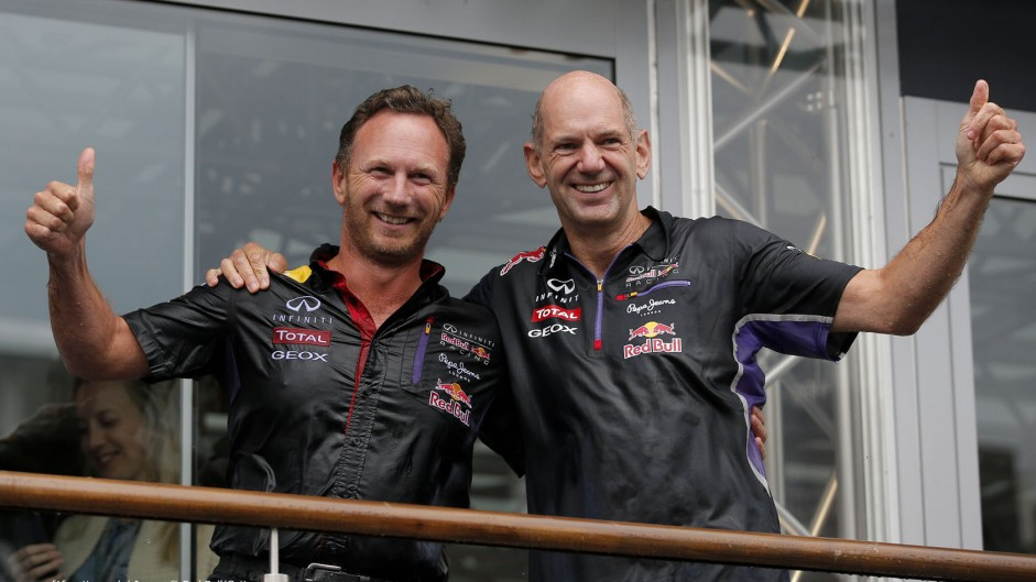 Adrian Newey, Christian Horner, Red Bull, Spa-Francorchamps, 2014