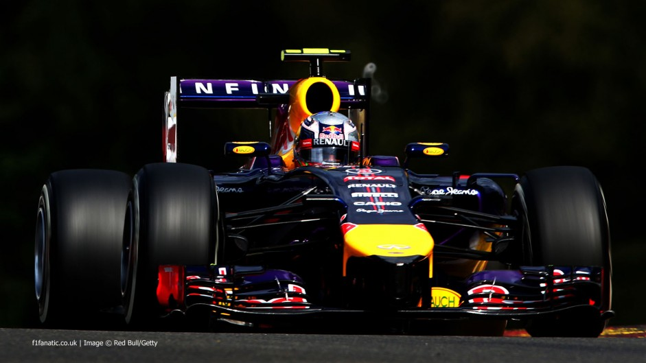 Ricciardo wins, Hamilton retires as Mercedes rivals collide at Spa
