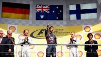 Nico Rosberg, Daniel Ricciardo, Valtteri Bottas, Spa-Francorchamps, 2014