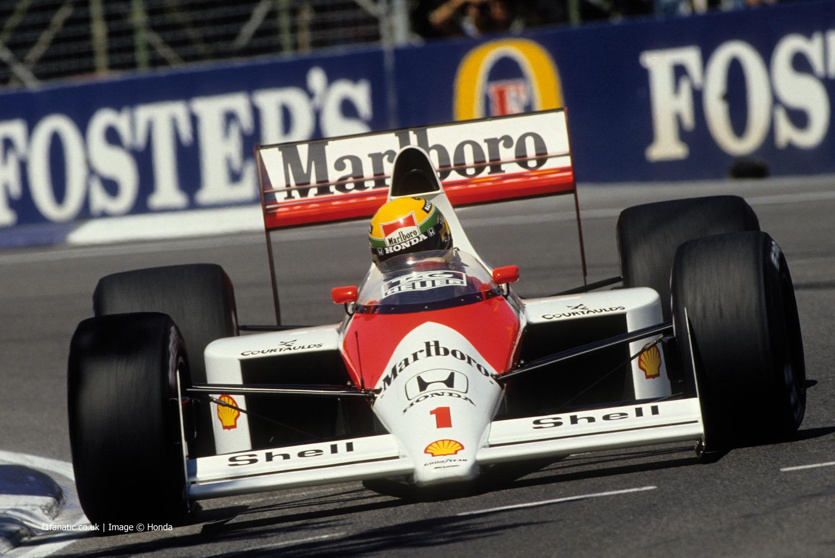 艾尔顿·塞纳(Ayrton Senna),迈凯轮,阿德莱德,1989年
