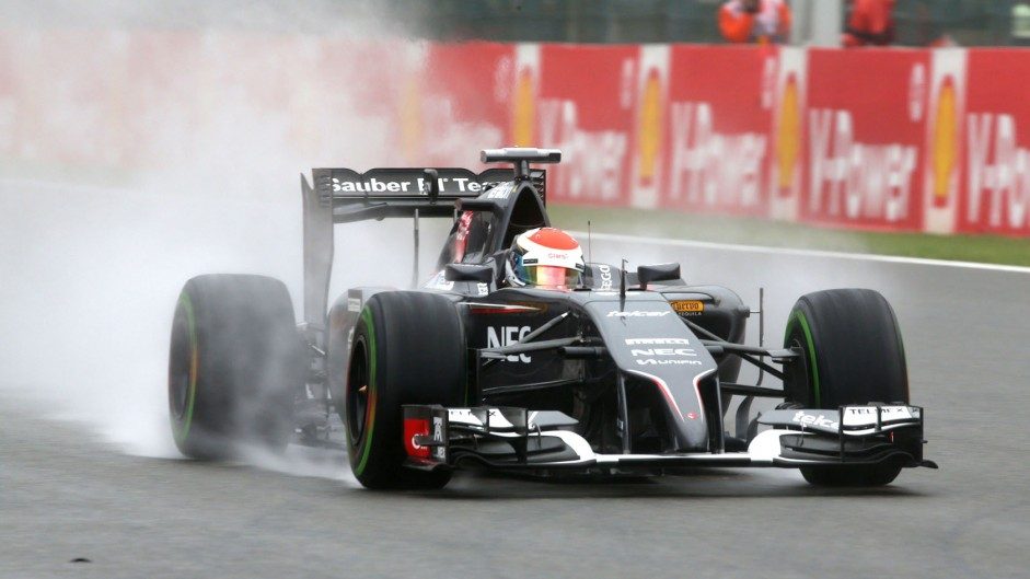 Adrian Sutil, Sauber, Spa-Francorchamps, 2014