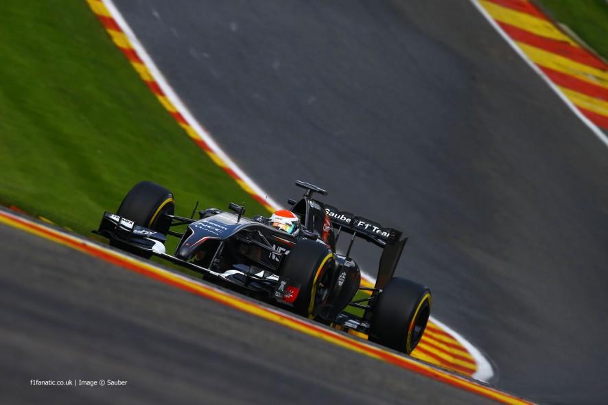 Adrian Sutil, Sauber, Spa-Francorchamps, 2014