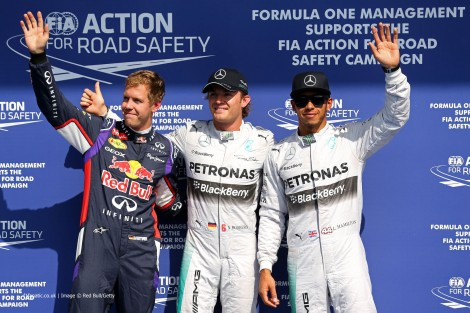 Sebastian Vettel, Nico Rosberg, Lewis Hamilton, Spa-Francorchamps, 2014