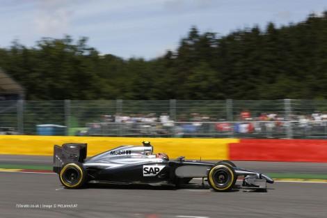 Kevin Magnussen, McLaren, Spa-Francorchamps, 2014