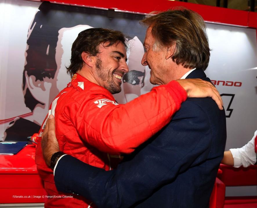 Fernando Alonso, Luca di Montezemolo, Ferrari, Monza, 2014