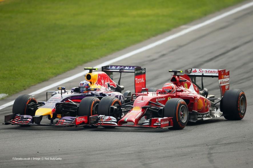 Daniel Ricciardo, Kimi Raikkonen, Monza, 2014