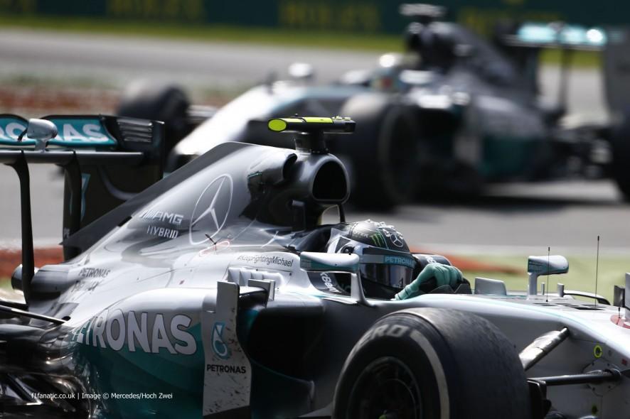 Nico Rosberg, Lewis Hamilton, Mercedes, Monza, 2014