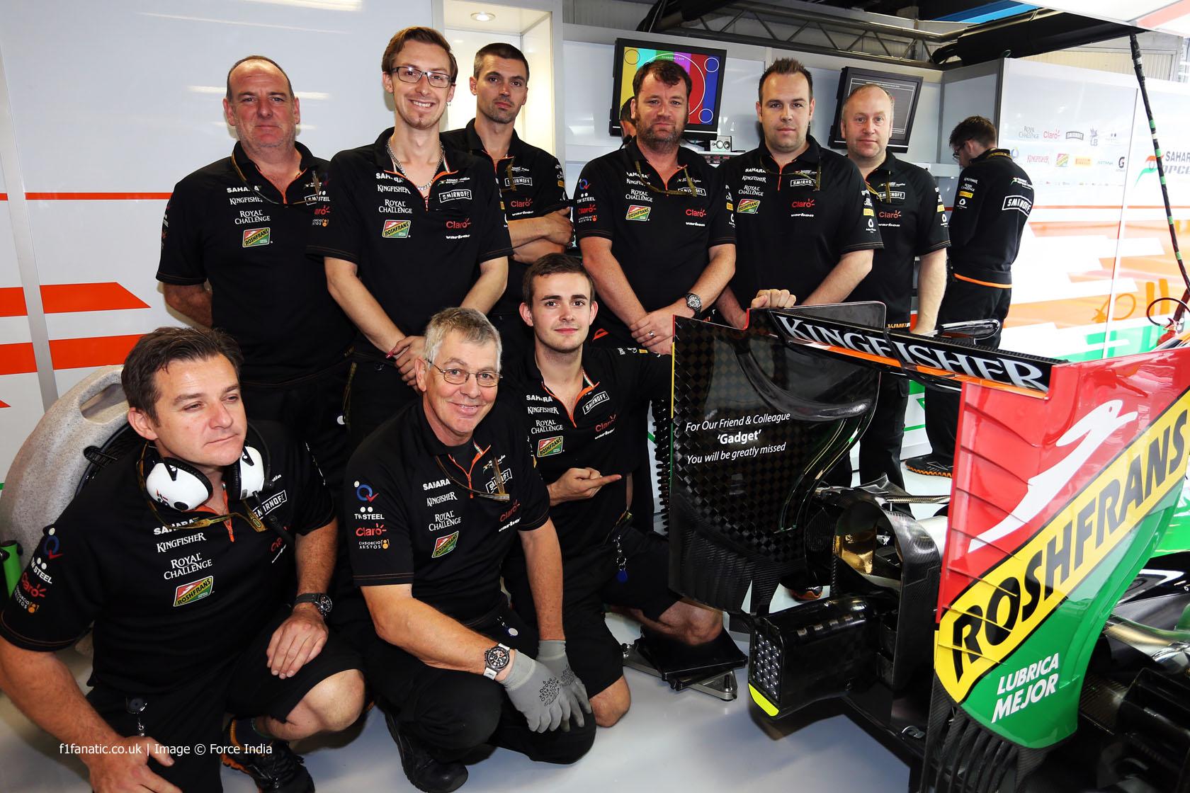 Force India mechanics, 2014