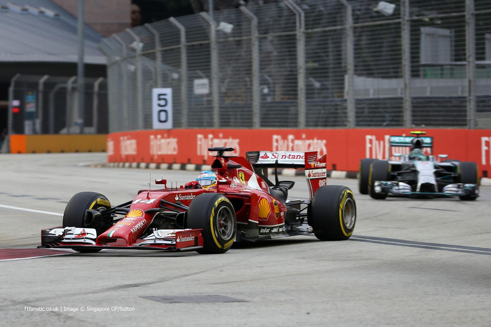 Fernando Alonso, Ferrari, Singapore, 2014