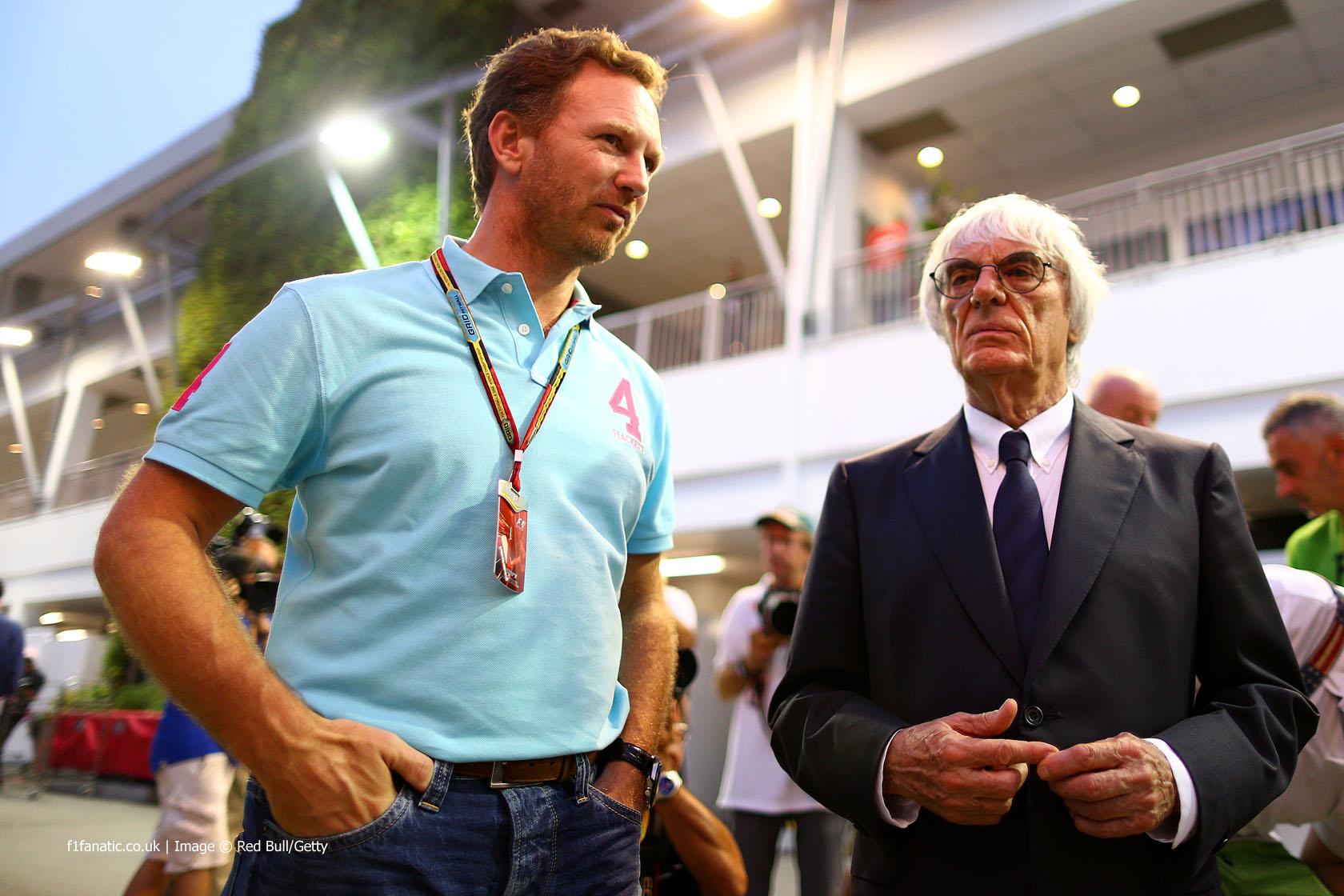 Christian Horner, Bernie Ecclestone, Singapore, 2014