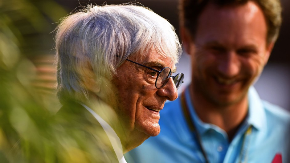 Bernie Ecclestone, Christian Horner, Singapore, 2014