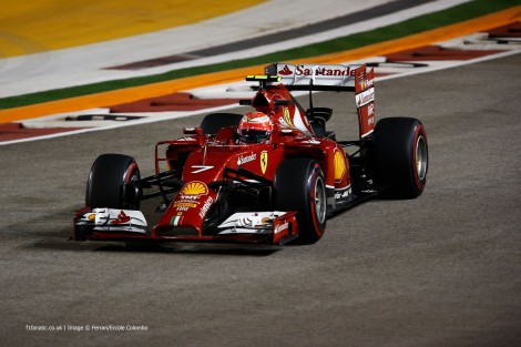 Kimi Raikkonen, Ferrari, Singapore, 2014