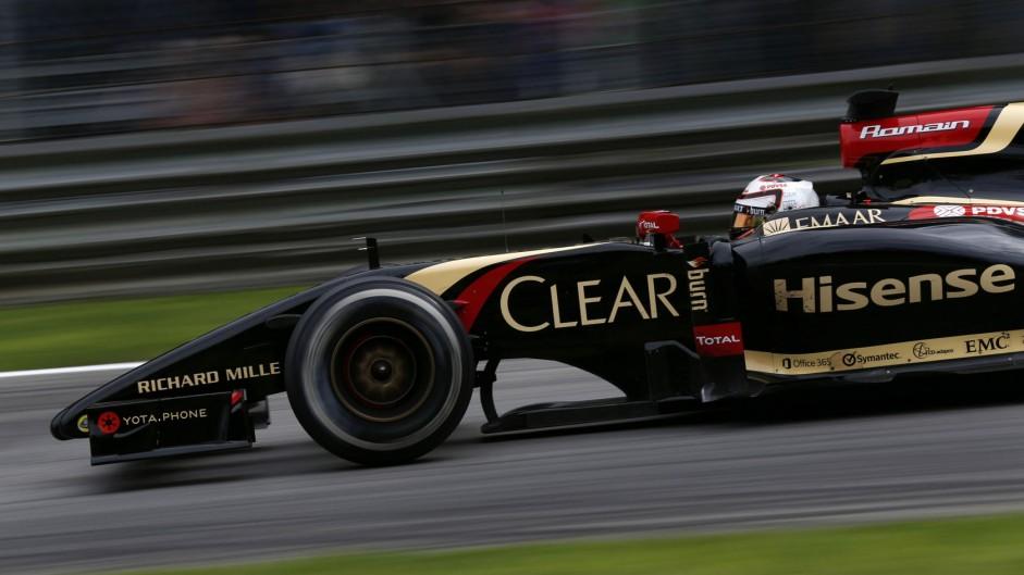 Romain Grosjean, Lotus, Monza, 2014