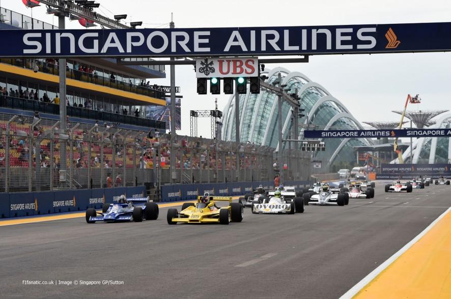Historic F1 cars, Singapore, 2014