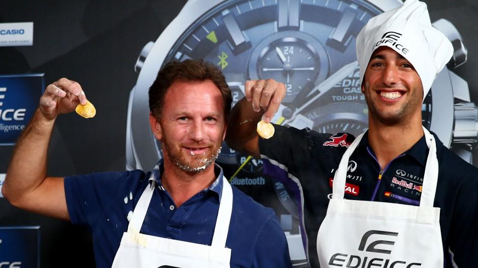 Christian Horner, Daniel Ricciardo, Red Bull, Monza, 2014