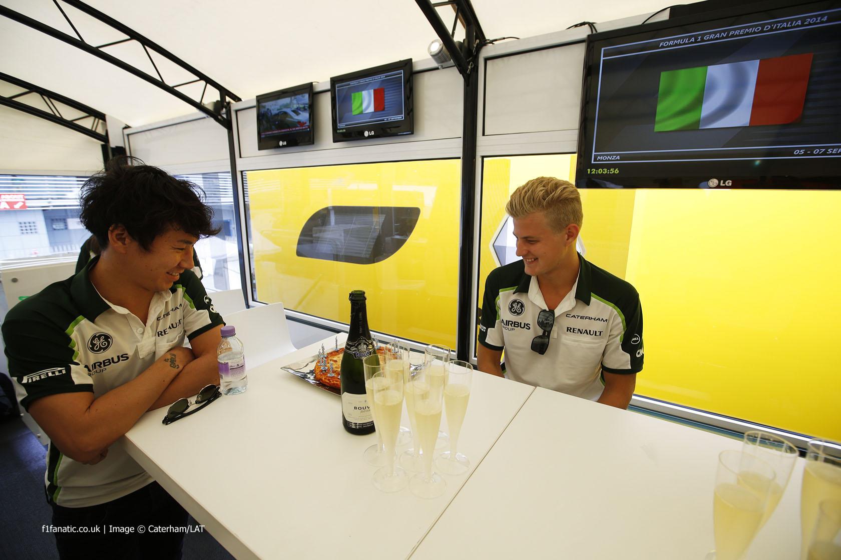 Kamui Kobayashi, Marcus Ericsson, Caterham, Monza, 2014