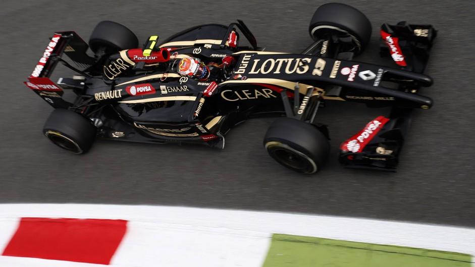 Pastor Maldonado, Lotus, Monza, 2014