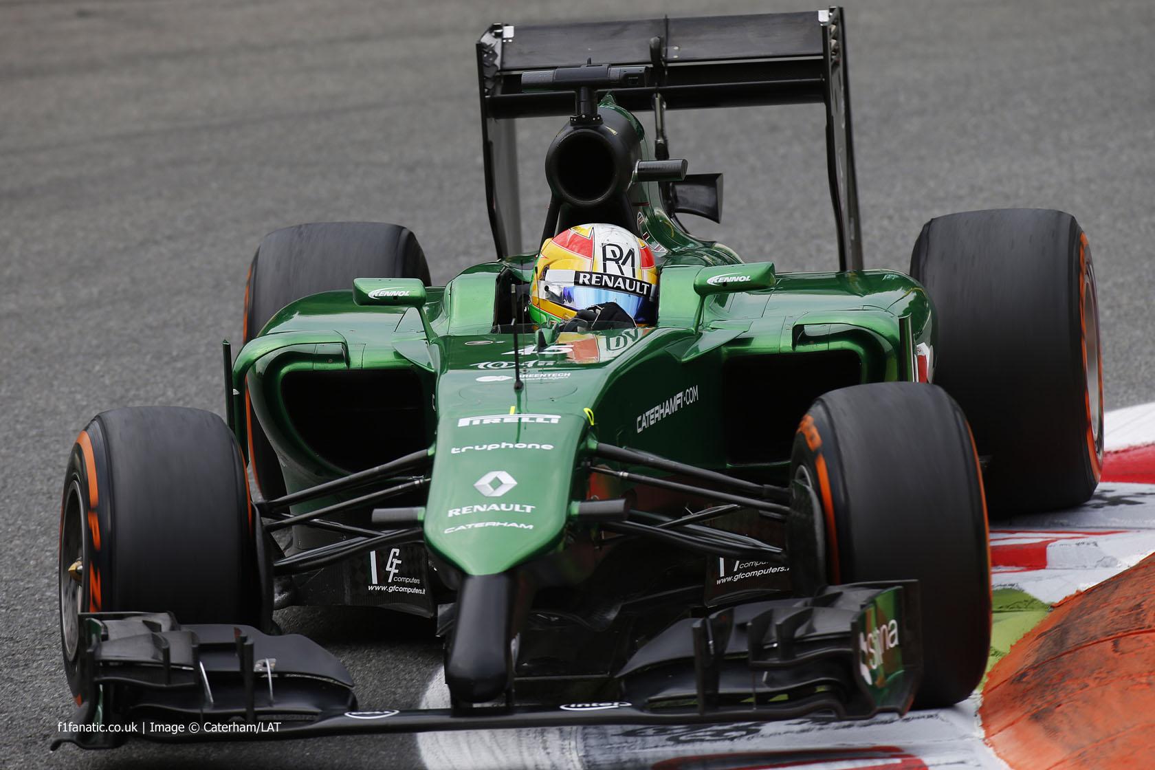 Roberto Merhi, Caterham, Monza, 2014