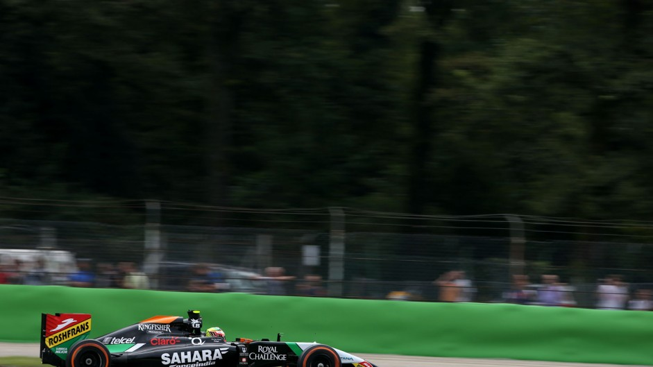 Sergio Perez, Force India, Monza, 2014