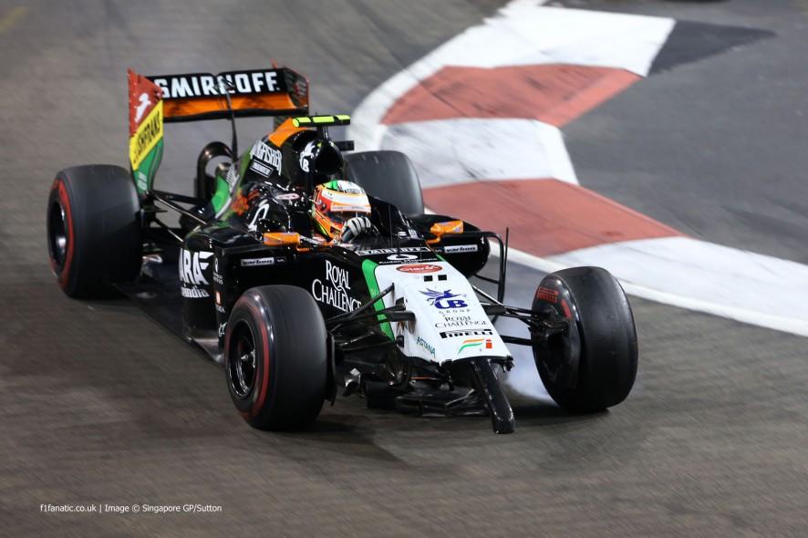 Sergio Perez, Force India, Singapore, 2014
