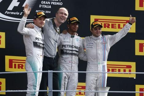 Nico Rosberg, Lewis Hamilton, Felipe Massa, Monza, 2014