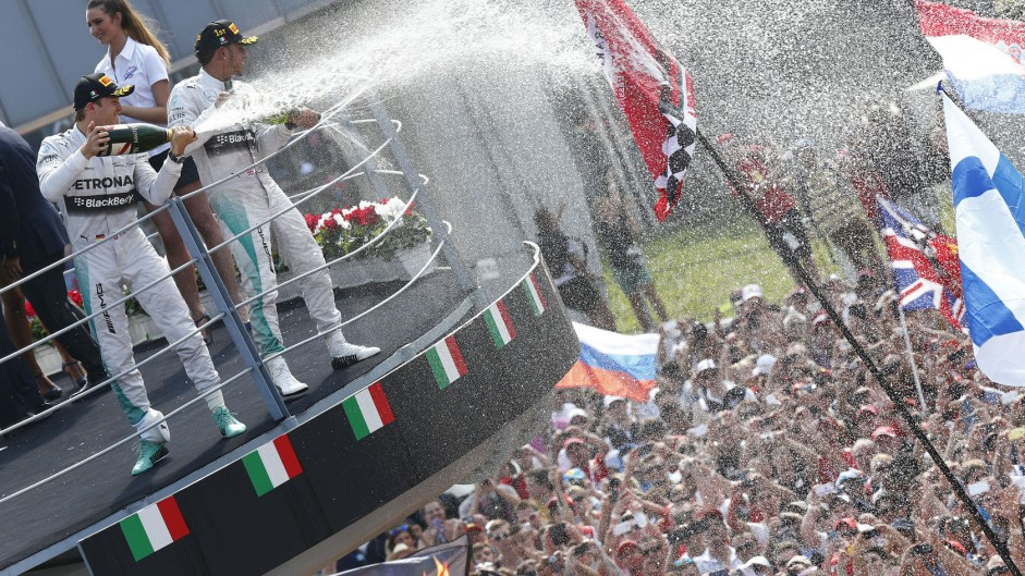 Nico Rosberg, Lewis Hamilton, Valtteri Bottas, Monza, 2014