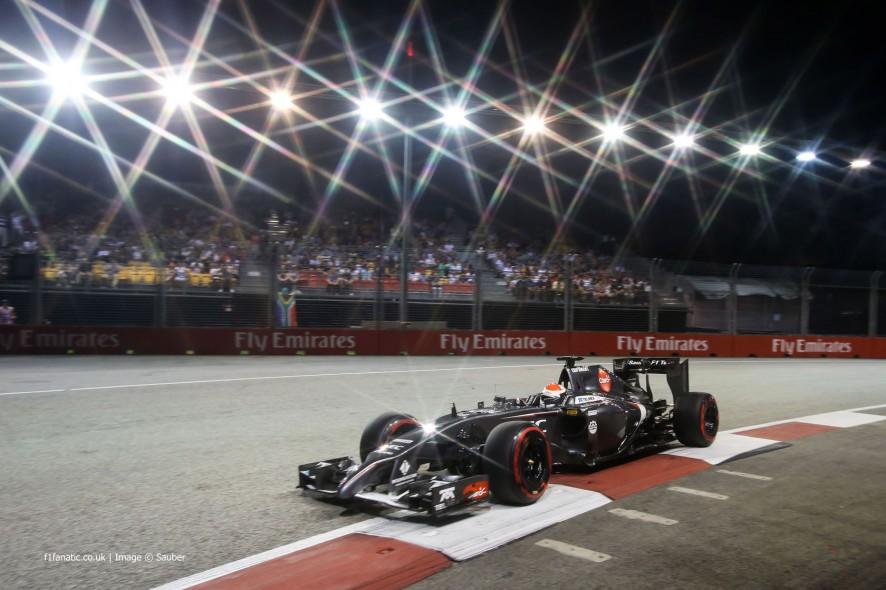 Adrian Sutil, Sauber, Singapore, 2014