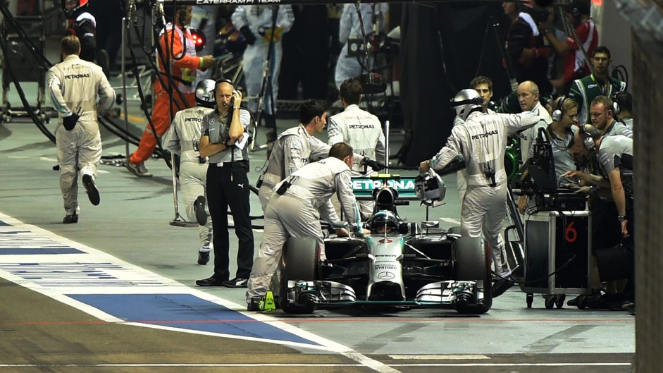 Nico Rosberg, Mercedes, Singapore, 2014