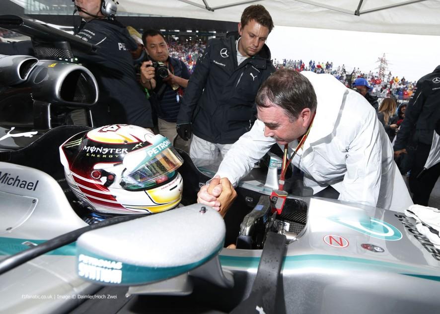 Lewis Hamilton, Nigel Mansell, Suzuka, 2014