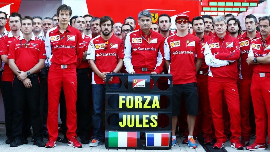 Ferrari tribute to Jules Bianchi, Sochi Autodrom, 2014