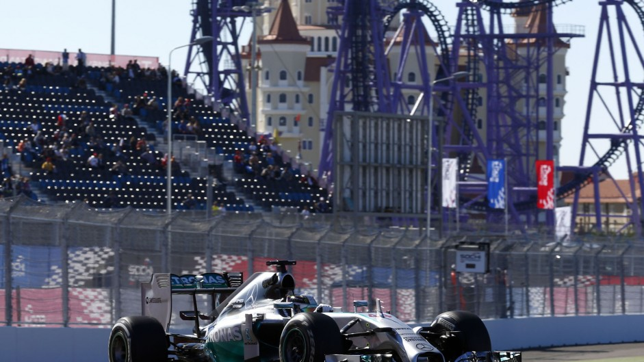 Hamilton leads one-two for new champions Mercedes