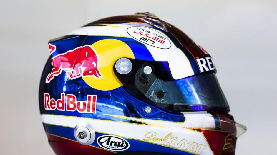 Daniil Kvyat helmet, Toro Rosso, Sochi Autodrom, 2014