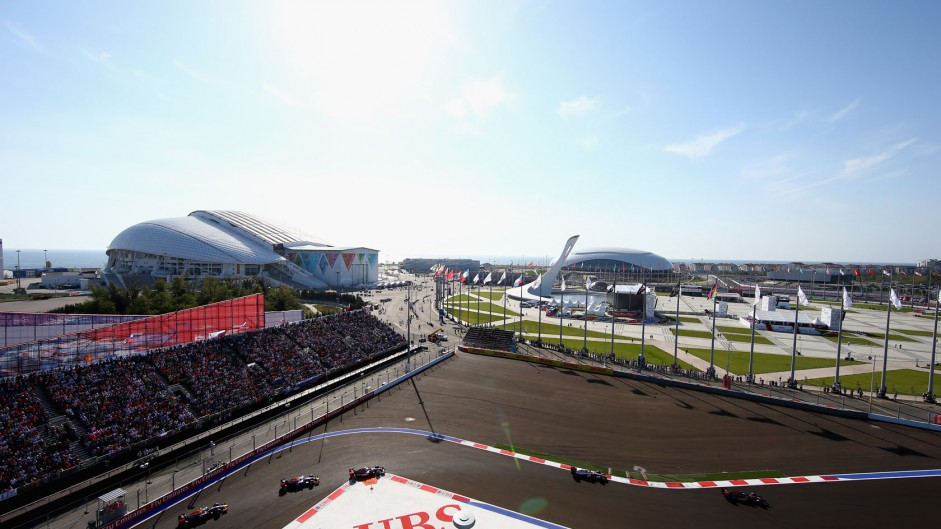 Sport and politics collide amid dreary Russian race