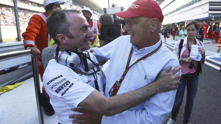 Paddy Lowe, Niki Lauda, Sochi Autodrom, 2014