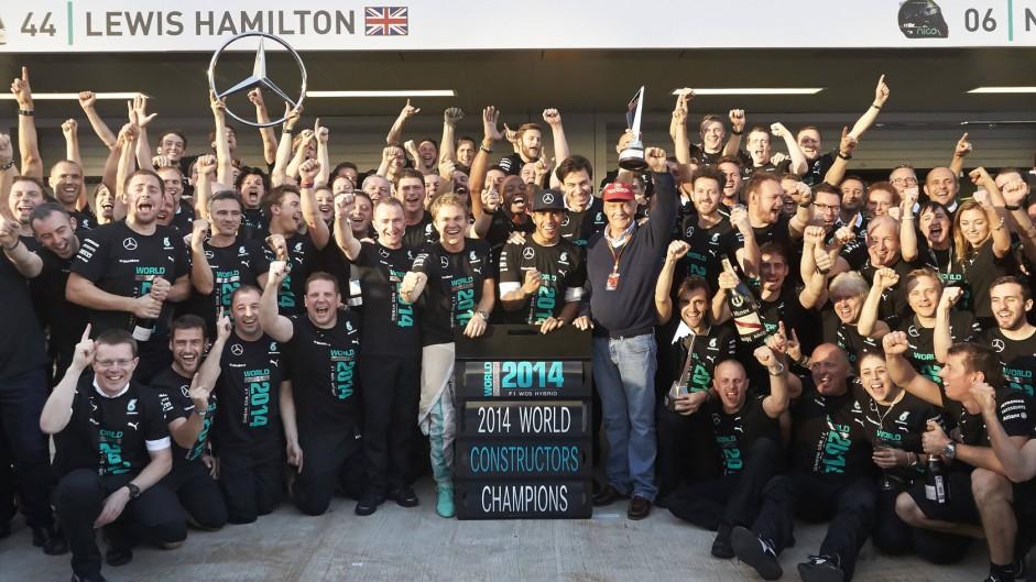 Mercedes clinch 2014 constructors' championship title