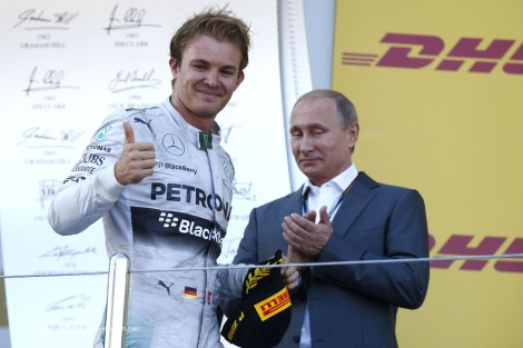 Nico Rosberg, Vladimir Putin, Sochi Autodrom, 2014