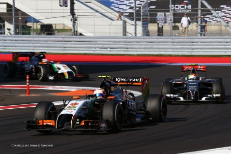 Sergio Perez, Force India, Sochi Autodrom, 2014