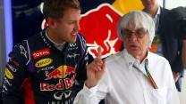 Sebastian Vettel, Bernie Ecclestone, Sochi Autodrom, 2014