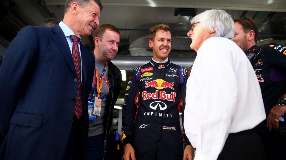 Sebastian Vettel, Bernie Ecclestone, Red Bull, Sochi Autodrom, 2014