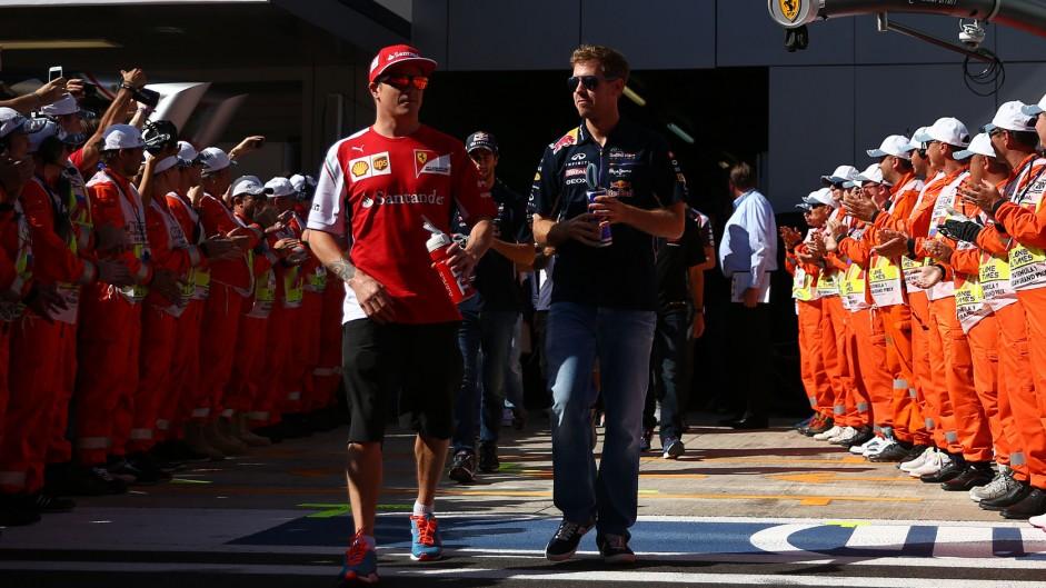 Kimi Raikkonen, Sebastian Vettel, Sochi Autodrom, 2014
