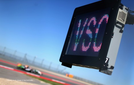 Virtual Safety Car board, Circuit of the Americas, 2014