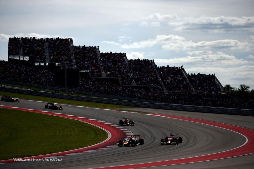 Daniel Ricciardo, Fernando Alonso, Circuit of the Americas, 2014