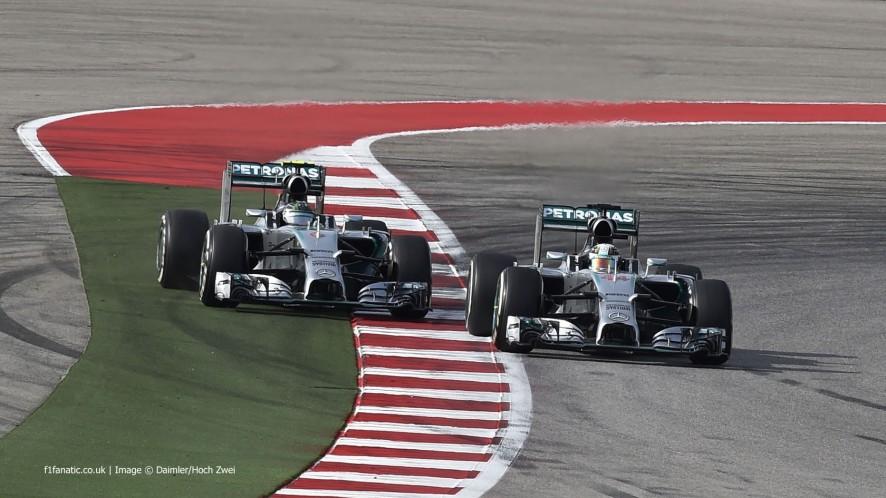 Lewis Hamilton, Nico Rosberg, Mercedes, Circuit of the Americas, 2014