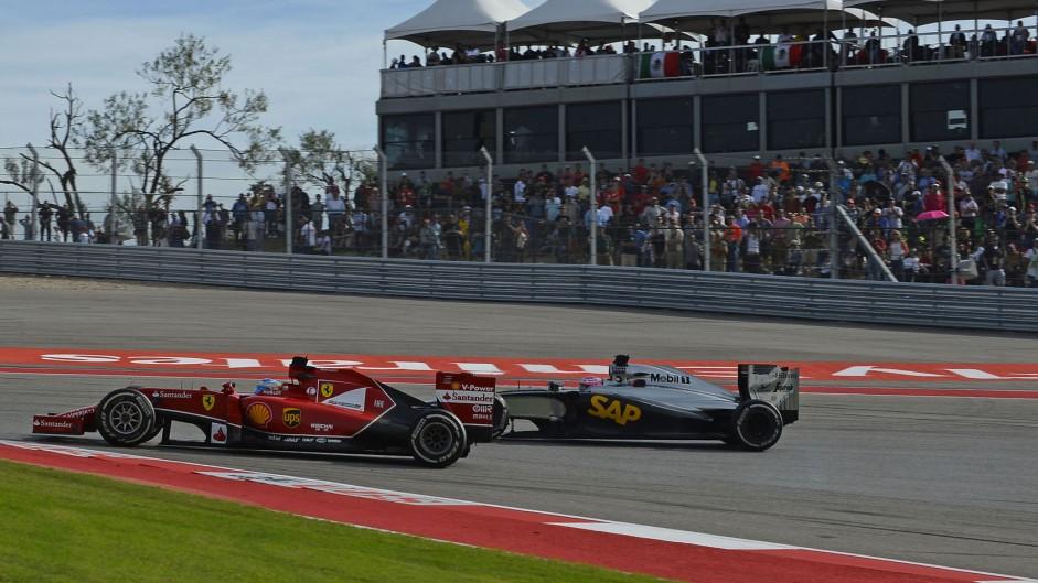 Fernando Alonso, Jenson Button, Circuit of the Americas, 2014