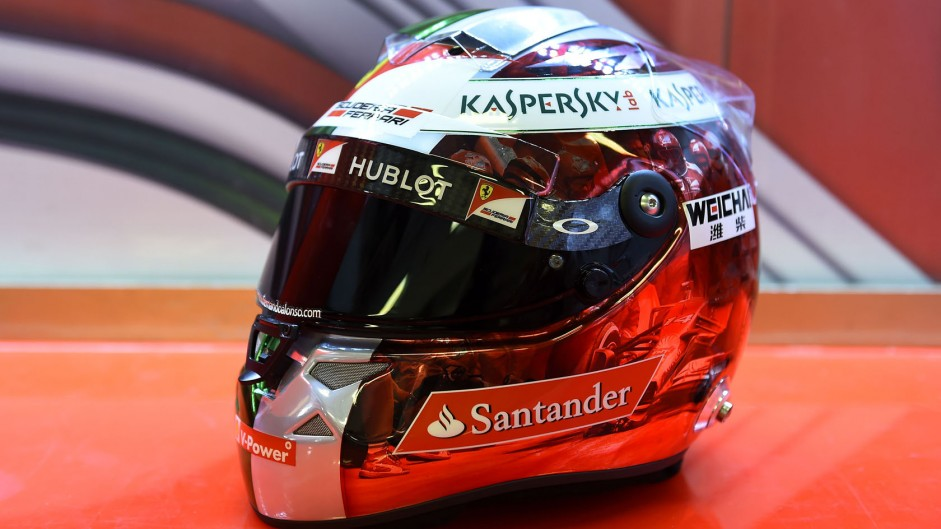Alonso reveals special helmet for final Ferrari race