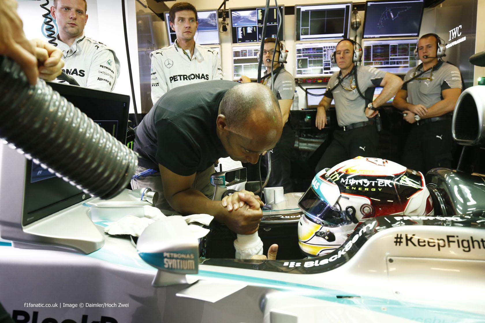 Anthony Hamilton, Lewis Hamilton, Mercedes, Yas Marina, 2014