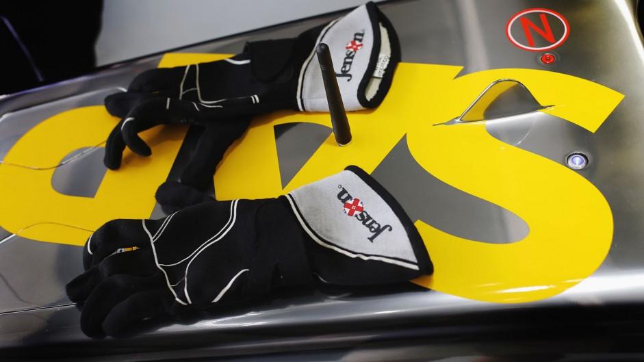 Jenson Button's gloves.