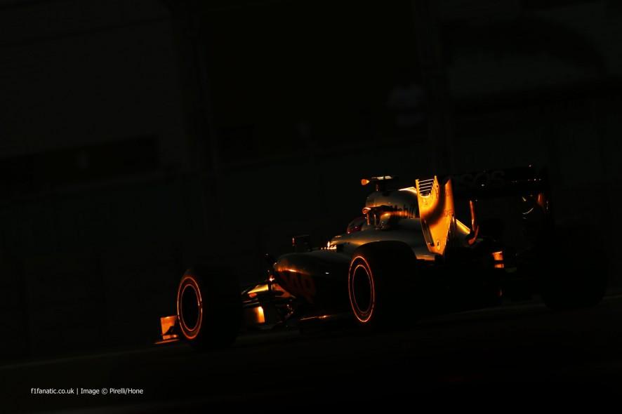 简森·巴顿(Jenson Button),迈凯轮(McLaren),亚斯码头(Yas Marina),2014年